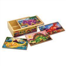 Dinosaurs in a Box Wooden Jigsaw Puzzle