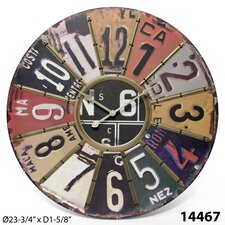 The Traveler License Plate Wall Clock