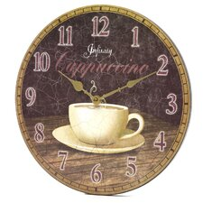 Dreamy Cappuccino Wall Clock