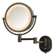 Lighted 5X Magnifying Wall Mount Mirror