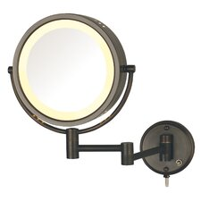 Hard-Wired Dual Sided 8x Wall Mount Halo Lighted Mirror