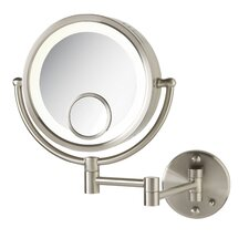 Dual Sided 7x Wall Mount Halo Lighted Mirror