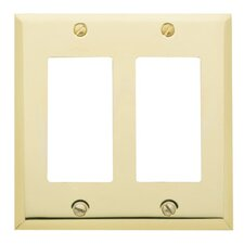 Classic Square Bevel Design Double GFCI Switch Plate