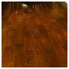 Sanctuary Random Width Handscraped Solid Maple Flooring in Fire Light