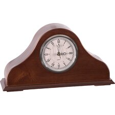 Remington Mantel Clock in Burnished Brown Cherry
