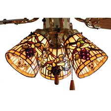 Tiffany Jeweled Grape Fan Light Shade