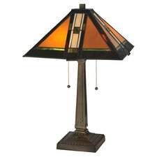 Prairie Parquet Mission Table Lamp