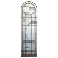 Deco Prairie Left Sided Stained Glass Window