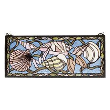 Nautical Seashell Stained Glass Window