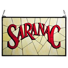 Recreation Saranac Stained Glass Window