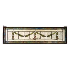 Floral Nouveau Garland Swag Stained Glass Window