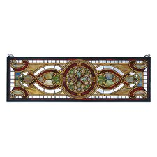 Victorian Tiffany Nouveau Evelyn in Topaz Transom Stained Glass Window
