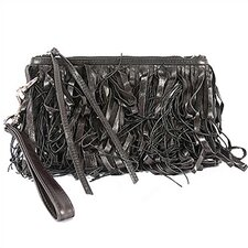 Le Cirque Collection Leather Fringe Wristlet