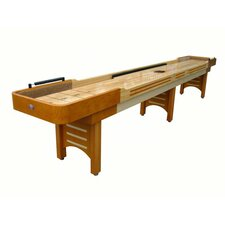 Coventry 16' Honey Shuffleboard, Butcher Block Bed and Camel Carpet