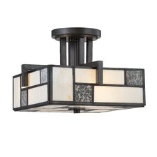 Bradley 3 Light Semi-Flush Mount