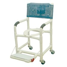 Standard Deluxe Shower Chair with Footrest with Optional Accessories