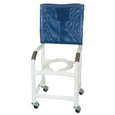 Standard Deluxe Shower Chair with High Back and Optional Accessories