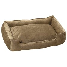 Micro-Velvet Lounge Dog Bed in Earth