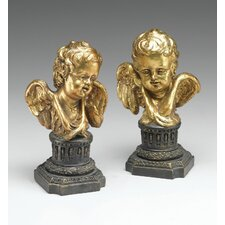 Angel Busts Statue (Set of 2)
