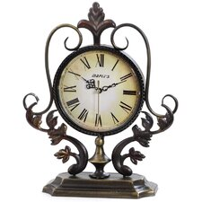 "12.8"" x 11.2"" Metal Decor Tabletop Clock"