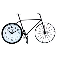 Silhouette Bicycle Table Clock