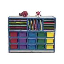 15-Tray Cubbie Unit with Letter Slots and Trays