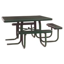 3-Seat ADA Square Picnic Table with Perforated Pattern