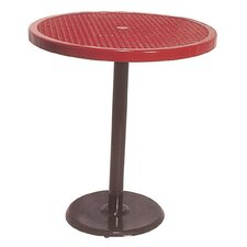 Portable Round Food Court Picnic Table with Diamond Pattern