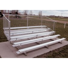 Five-Row Aluminum Bleacher with Guardrails