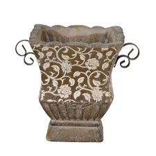 Large Square Ceramic Floral Pot