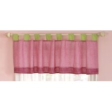 Zurie Cotton Blend Tab Top Tailored Curtain Valance