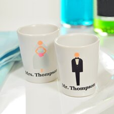 Custom Bride and Groom Shot Glass (Set of 2)