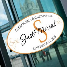 Standard Monogram Wedding Window Cling (Set of 2)