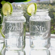 Mr. and Mrs. Ball Jar Set