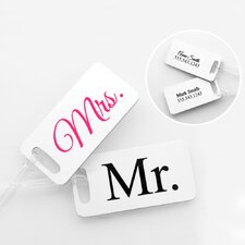 Mr. and Mrs. Personalozed Tag (Set of 4)