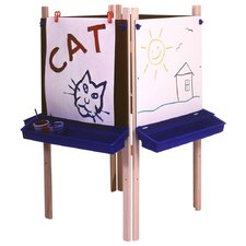 Four Station Adjustable Easel