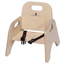"5"" Wood Classroom Toddler Stackable Chair with Strap"