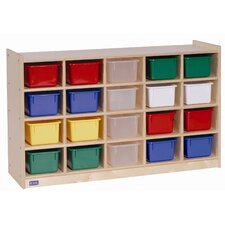 20 Tray Cubby Storage with Tray