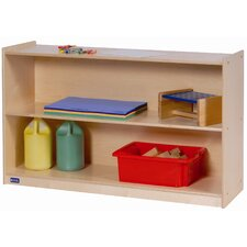 Wide High Two Shelf Mobile Storage