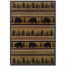 Hunter Bear Novelty Rug