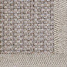 Jute Basketweave Medium Natural Bordered Rug