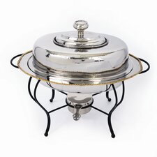 Nickel 4 Qt Oval Chafing Dish