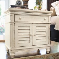 Steel Magnolia 1 Drawer Nightstand