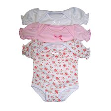 "14"" Infant Bodysuit Assortment (Set of 3)"