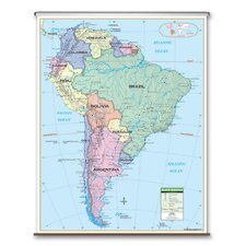 Primary Wall Map - South America