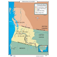 U.S. History Wall Maps - Oregon Country
