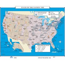 U.S. History Wall Maps - State of the Nation 1900
