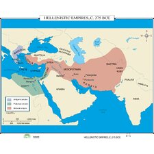 World History Wall Maps - Hellenistic Empires