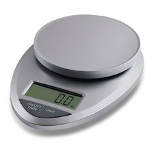 Precision Pro Digital Kitchen Scale in Silver