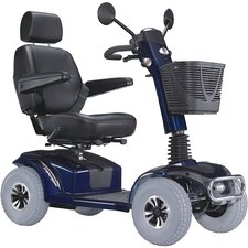 "PF6K Mirage K Electric 4 wheel Power Scooter with 20"" Captain Seat Top Speed 7.5 mph in Blue"